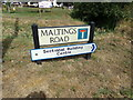 TQ7794 : Maltings Road sign by Adrian Cable