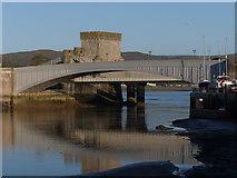 SH7877 : The three bridges Conwy by Chris Gunns