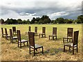 SU9972 : The Jurors on the meadows at Runnymede by Richard Humphrey
