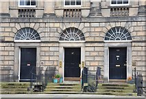 NT2574 : Three doors on Great King Street, Edinburgh by Jim Barton