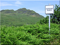 NS0381 : Passing place on the B836 road by Thomas Nugent
