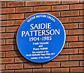 J3274 : Saidie Patterson plaque, Belfast (August 2018) by Albert Bridge