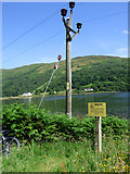 NS0583 : Danger sign at Craigendive by Thomas Nugent