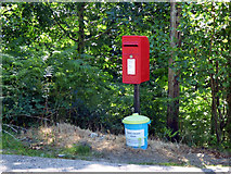 NS0583 : Postbox by the B836 road by Thomas Nugent