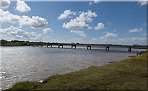 SD3641 : The Shard Bridge over the River Wyre by Ian Greig