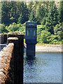 NS0683 : Loch Tarsan dam tower by Thomas Nugent