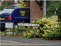 TM2850 : Church View Close sign by Adrian Cable