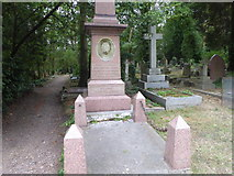 TQ2886 : The grave of Ann Jewson in Highgate Cemetery by Marathon