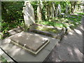 TQ2886 : The original grave of Karl Marx in Highgate Cemetery East by Marathon