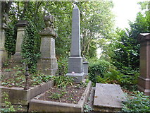 TQ2886 : The grave of George Eliot in Highgate Cemetery by Marathon