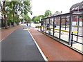 SJ8496 : Cycle path on Oxford Road by Oliver Dixon