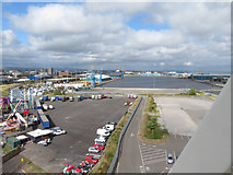 ST1973 : View over Cardiff Docks by Gareth James