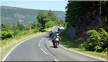 NS1481 : Motorcyclists on the B836 road by Thomas Nugent