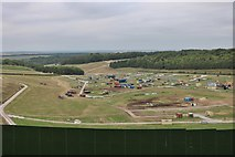 SU5228 : The end of Boomtown Fair on Telegraph Clump by David Howard