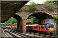 TQ0763 : Weybridge Railway Station by Peter Trimming