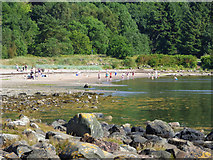 NS2074 : Sunbathers at Lunderston Bay by Thomas Nugent