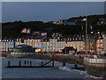 SN5881 : Evening light on Aberystwyth seafront by Robin Drayton