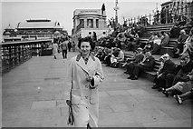 SD3036 : Blackpool Promenade, c.1958 by Victor Percival Mills (1921-1974)