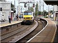 TM0932 : Train No.90008 leaving Manningtree Railway Station by Adrian Cable