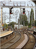 TM0932 : Manningtree South Junction Level Crossing by Adrian Cable