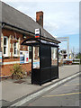 TM0932 : Bus Shelter at Manningtree Railway Station by Adrian Cable