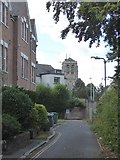 SX9193 : St David's church, Exeter from Woodbine Terrace by David Smith