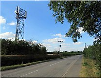 SK6117 : Seagrave Road towards Seagrave and telecommunications mast by Andrew Tatlow