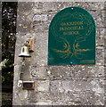 SO9103 : Oakridge Parochial School nameboard and bell, Oakridge Lynch, Gloucestershire by Jaggery