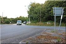 SU4641 : Roundabout entering Bullington Cross by David Howard