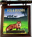 SS9386 : Fox & Hounds name sign, Blackmill by Jaggery