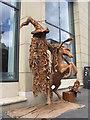 NT2573 : Unicorn and snake man on George IV Bridge by M J Richardson