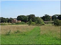 TM2844 : Waldringfield: path across Church Field by John Sutton
