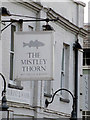 TM1131 : The Mistley Thorn sign by Adrian Cable