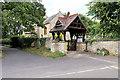 SP7649 : St Michael's Church and Lychgate, Ashton by David Dixon