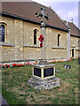 SP7850 : Hartwell War Memorial at St John's Church by David Dixon