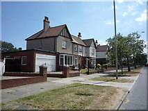NZ3764 : Houses on King George Road, South Shields by JThomas