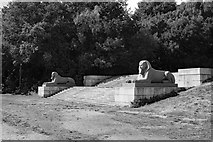 TQ3370 : Crystal Palace Park : Sphinxes by Julian Osley