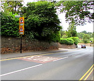 SP2871 : Warning signs alongside the B4103 Borrowell Lane, Kenilworth by Jaggery