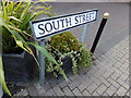 TM1031 : South Street sign by Adrian Cable