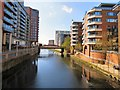 SJ8398 : River Irwell at Spinningfields by Gerald England