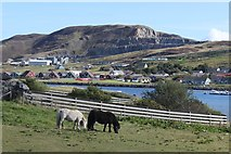 HU4039 : View of Scord Quarry across the East Voe of Scalloway by Stuart Taylor