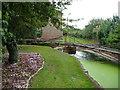 SE4672 : Garden railway bridge, Pilmoor Cottages by Christine Johnstone