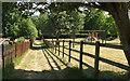 ST8132 : Footpath past playground, Mere by Derek Harper