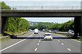 SP0173 : M42, Sandhills Green Bridge by David Dixon