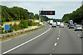 SP0672 : Variable Message Sign on the M42 near Weatheroak Hill by David Dixon