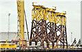 J3575 : Wind turbine parts, Harland & Wolff, Belfast  -  September 2018(1) by Albert Bridge