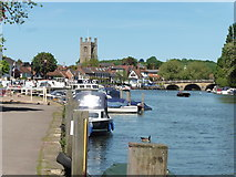SU7682 : The Thames Path National Trail at Henley-on-Thames by Dave Kelly