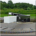 SP6989 : Balance beams at Foxton Locks in Leicestershire by Roger  Kidd