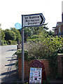 TL7205 : Roadsign at the entrance of Great Baddow Recreation Ground by Adrian Cable
