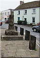 SY5997 : Remains of the 15th century Market Cross, Maiden Newton by Jaggery